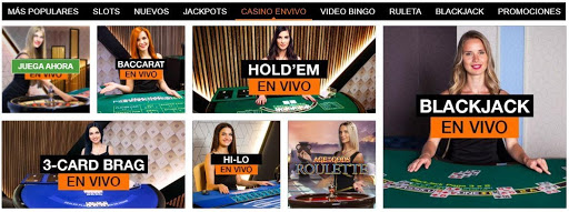 Juegos de casino en vivo disponibles en winner.mx