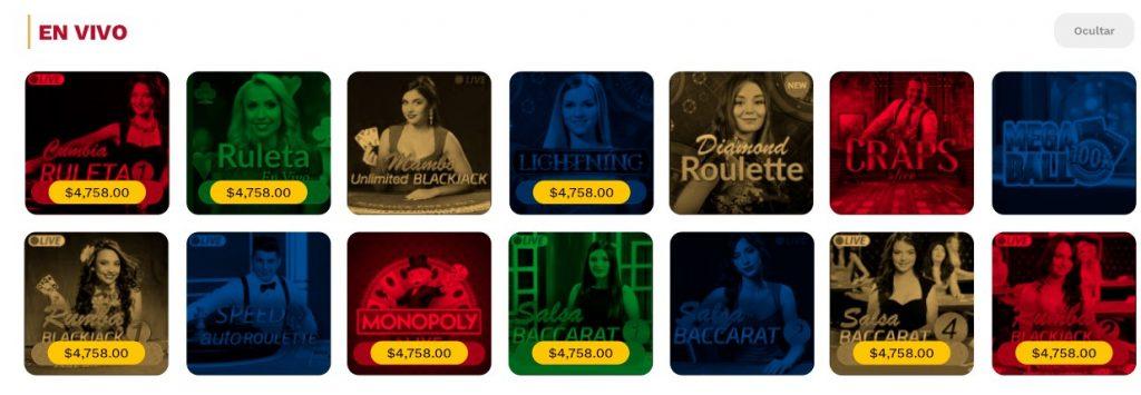 Juegos de casino en vivo Codere