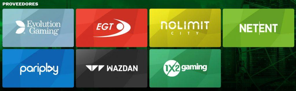 Proveedores de juegos de casino