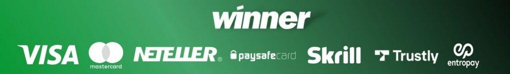 Métodos de pago disponibles en Winner