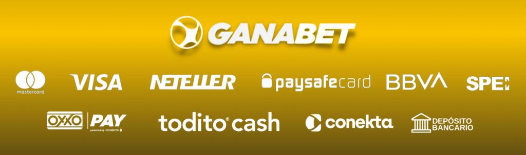 Opciones de pago en Ganabet
